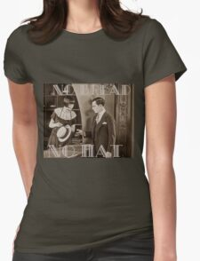"""""""No Bread No Hat"""" Silent Film-era Buster Keaton Womens Fitted T-Shirt"""