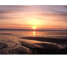 Sunset on Beach Photographic Print