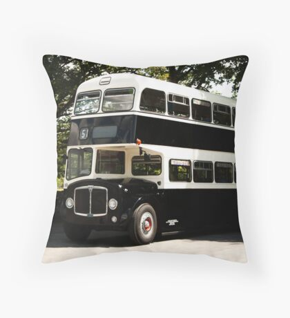 AEC Regent Bus Throw Pillow