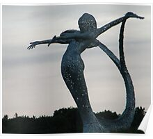 Motorway Sculpture, near Cumbernauld, Scotland Poster