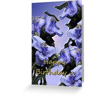 Lavender Wild Flowers Birthday Greeting Card