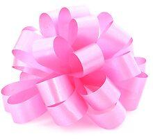 single pink ribbon gift  by Valerii Kotulskyi