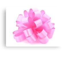 single pink ribbon gift  Canvas Print