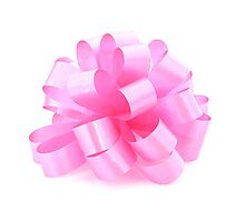 single pink ribbon gift  Photographic Print