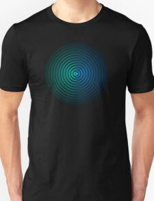 Spiky Circle Pattern - Blue and Green T-Shirt
