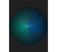 Spiky Circle Pattern - Blue and Green Photographic Print