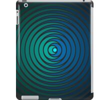Spiky Circle Pattern - Blue and Green iPad Case/Skin