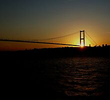 Sunset through Bosphorus Bridge. by albutross
