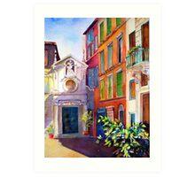 Street scene in Rome Art Print