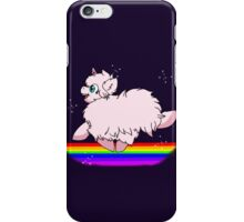 Pink Fluffy Unicorns Dancing on Rainbows Feat. Flufflepuff iPhone Case/Skin