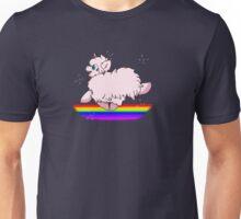 Pink Fluffy Unicorns Dancing on Rainbows Feat. Flufflepuff Unisex T-Shirt