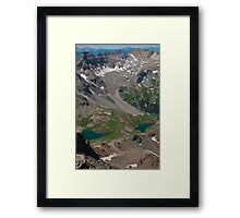 The Brilliant and Amazing Blue Lakes Framed Print