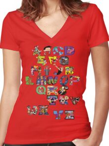Saturday Morning Cartoons! Women's Fitted V-Neck T-Shirt