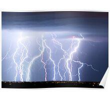 Electric Lightning Sky Poster