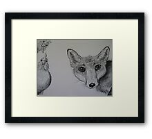 Hello Mr Fox! Framed Print