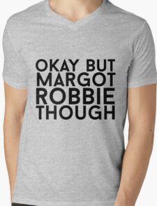 Margot Robbie Mens V-Neck T-Shirt