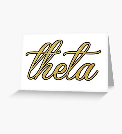 Kappa Alpha Theta Gold and Black Greeting Card