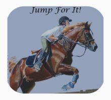 Jump For It! Horse T-Shirt One Piece - Short Sleeve