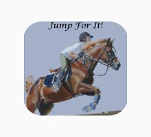 Jump For It! Horse T-Shirt Womens Fitted T-Shirt
