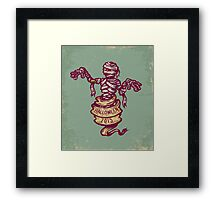 Mummy and old ribbon for Halloween Framed Print