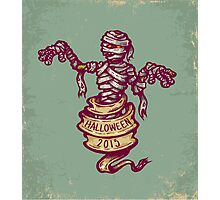 Mummy and old ribbon for Halloween Photographic Print