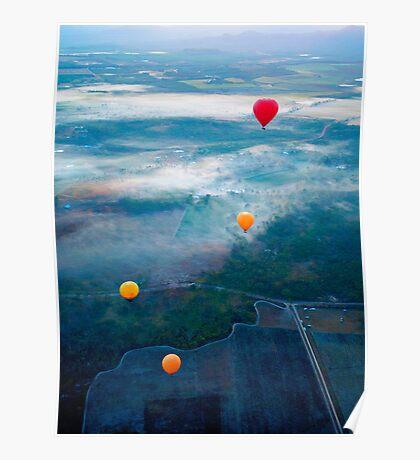 Up Up and Away - hot air ballooning  Poster