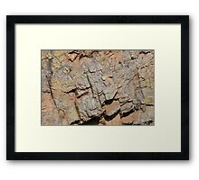 Weathered Rock Framed Print