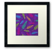 feathers pattern  Framed Print