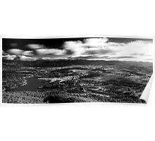 B+W HDR Canberra landscape Poster