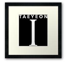Girls' Generation (SNSD) Taeyeon 'I' White Framed Print