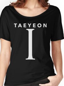 Girls' Generation (SNSD) Taeyeon 'I' White Women's Relaxed Fit T-Shirt