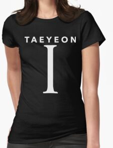 Girls' Generation (SNSD) Taeyeon 'I' White Womens Fitted T-Shirt