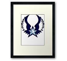 hillary clinton : winged star Framed Print