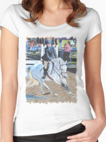 Determination - Horseshow T-Shirt or Hoodie Women's Fitted Scoop T-Shirt