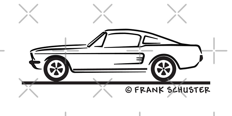 u0026quot 1967 ford mustang fastback u0026quot  greeting cards by frank