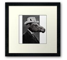 Horse Face Framed Print