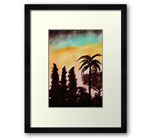 Our local silohouiette, watercolor Framed Print