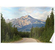 Mountain Road at Jasper National Park Poster