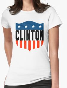 clinton : stars and stripes Womens Fitted T-Shirt