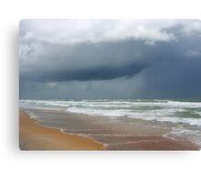 Flagler Beach, FL, storm coming Canvas Print