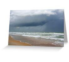 Flagler Beach, FL, storm coming Greeting Card