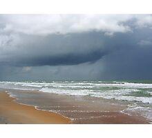 Flagler Beach, FL, storm coming Photographic Print