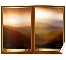Craggy Gardens Sunset Poster