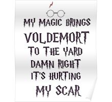 my magic brings voldemort to the yard Poster