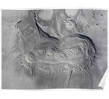 Tidal etching, Kilronan harbour, Inis Mór, Ireland Poster