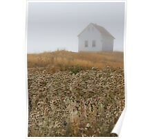 August mist building thistles Poster