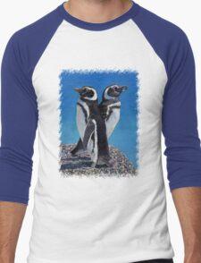 Cute Penguins T-Shirt Men's Baseball ¾ T-Shirt