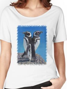 Cute Penguins T-Shirt Women's Relaxed Fit T-Shirt