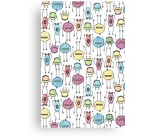 Spooky Monsters Canvas Print