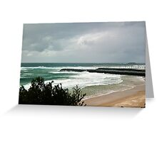 The Empty Beach - Duranbah Greeting Card